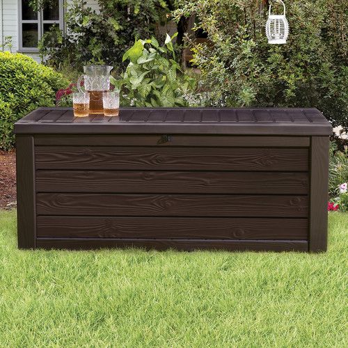 Keter Westwood 150 Gallon Resin Deck Box by Keter
