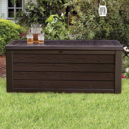 Wondrous 150 Gallon Deck Box 25 4H Brown Keter Brickseek Machost Co Dining Chair Design Ideas Machostcouk