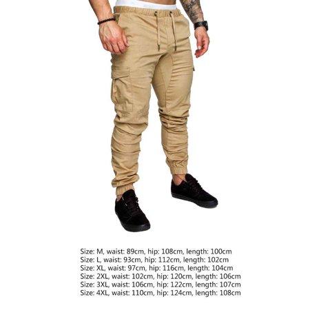 Boyijia Mens Pocket Pants Casual Elastic String Fashion Long Trousers Joggers - image 5 of 8