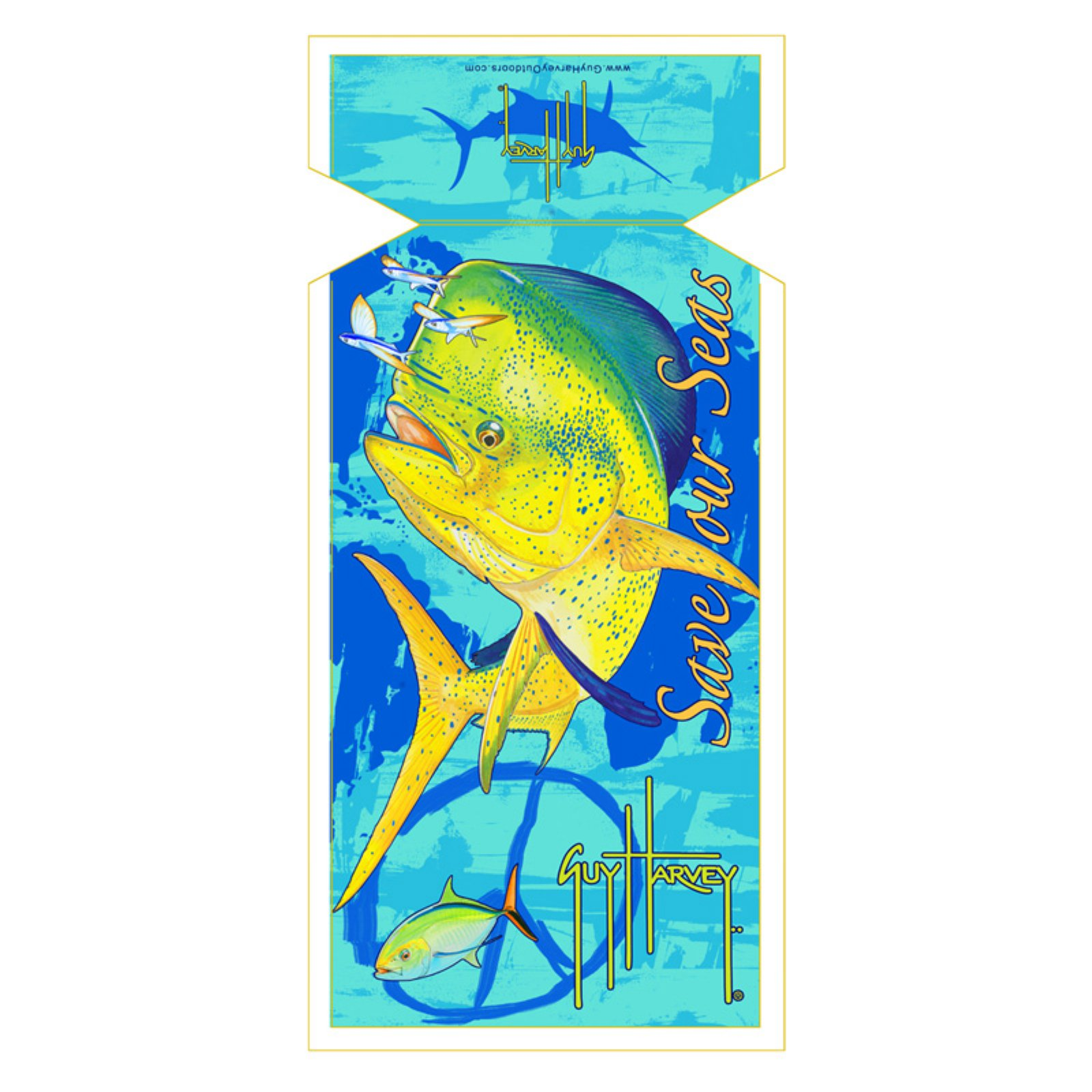 Guy Harvey Dorado Sea Lounge Chair Beach Towel with Hood