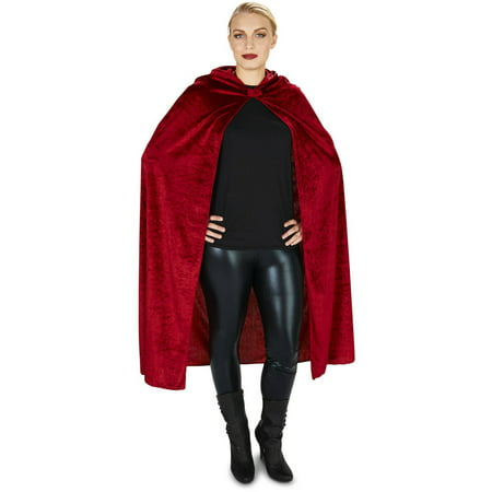 Red Wine Velvet Adult Cape Halloween Accessory
