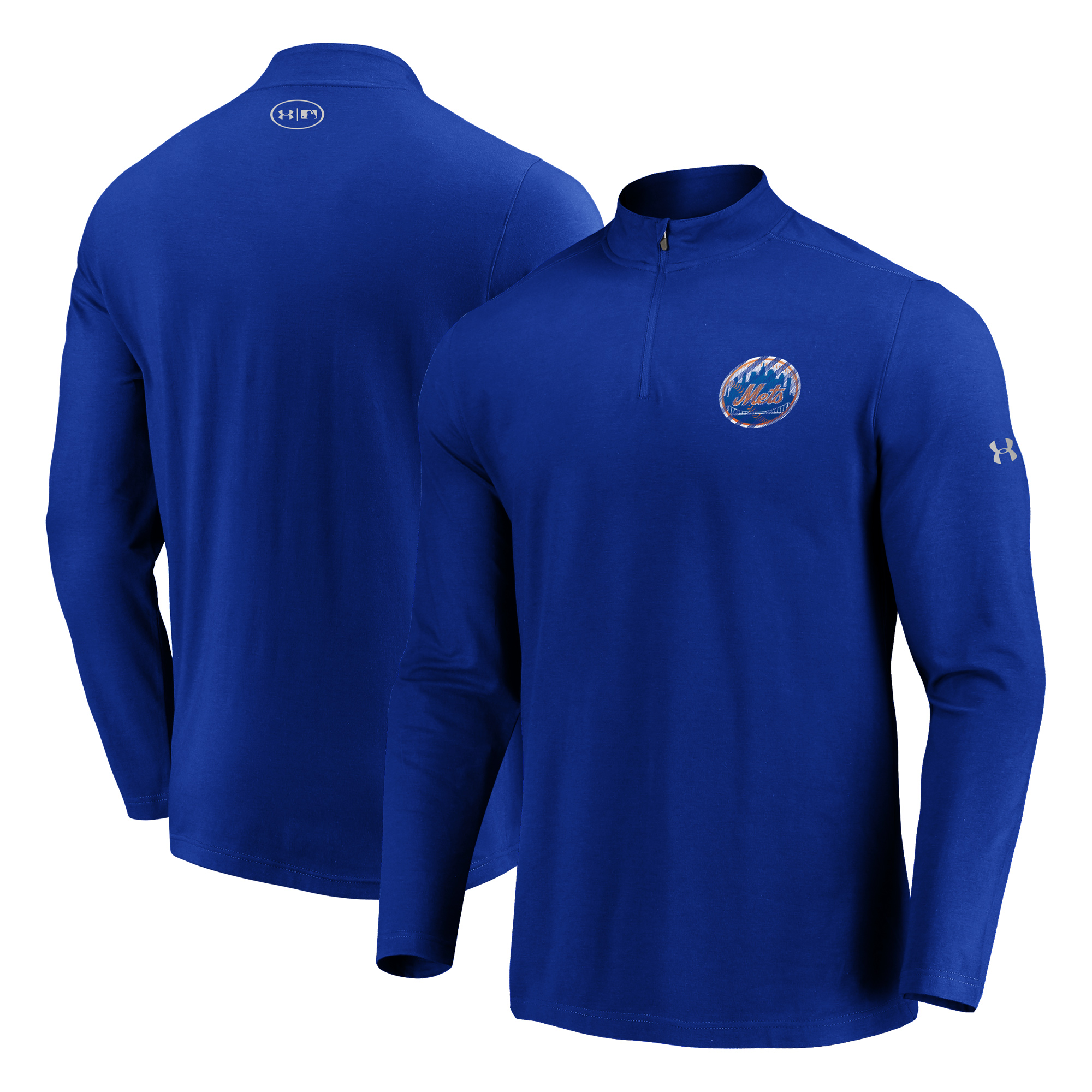 New York Mets Under Armour Passion Alternate Left Chest 1/4-Zip Jacket - Royal