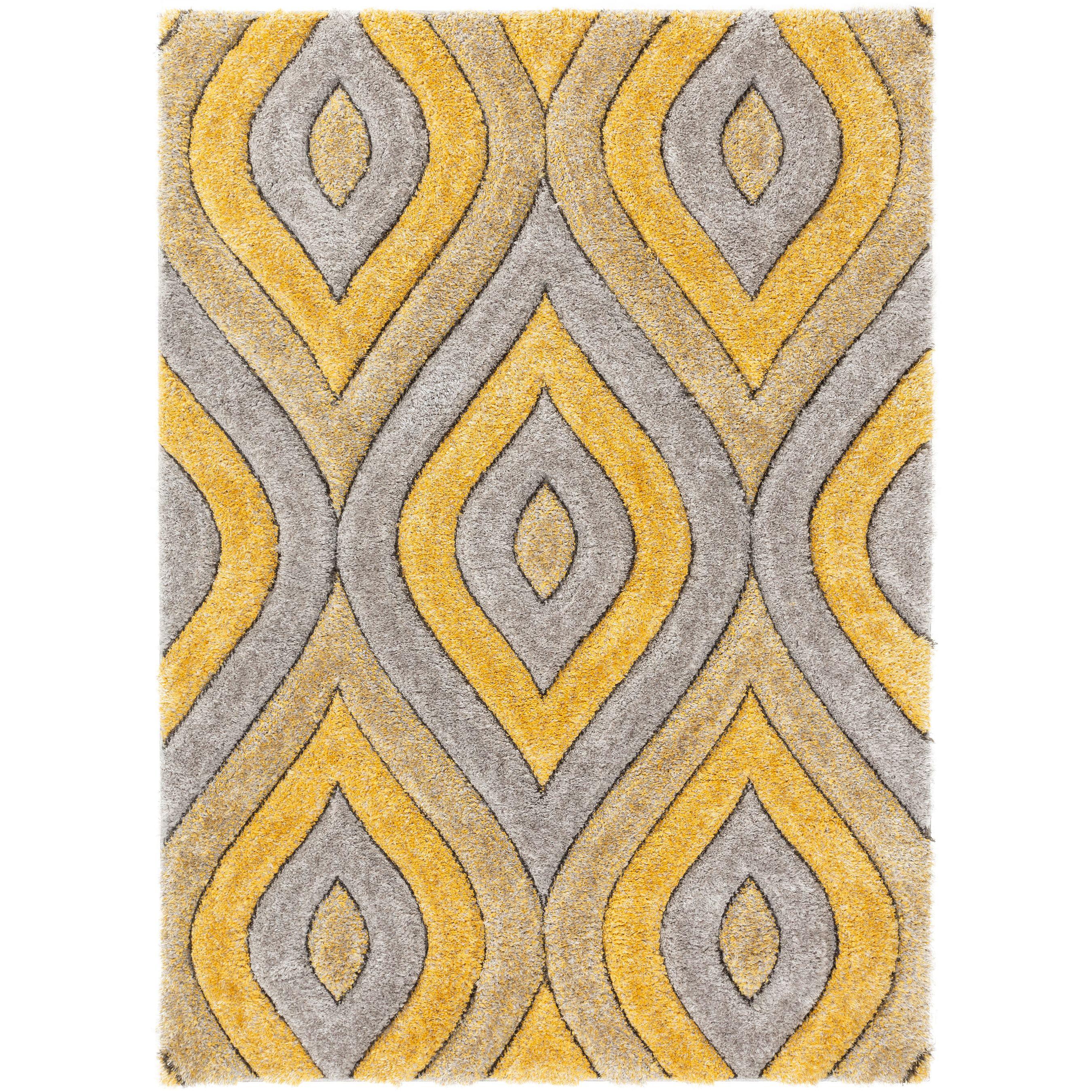 Picture of: Well Woven Moira Yellow Geometric Trellis Thick Soft Plush 3d Textured Shag Area Rug 8×10 7 10 X 9 10 Walmart Com Walmart Com