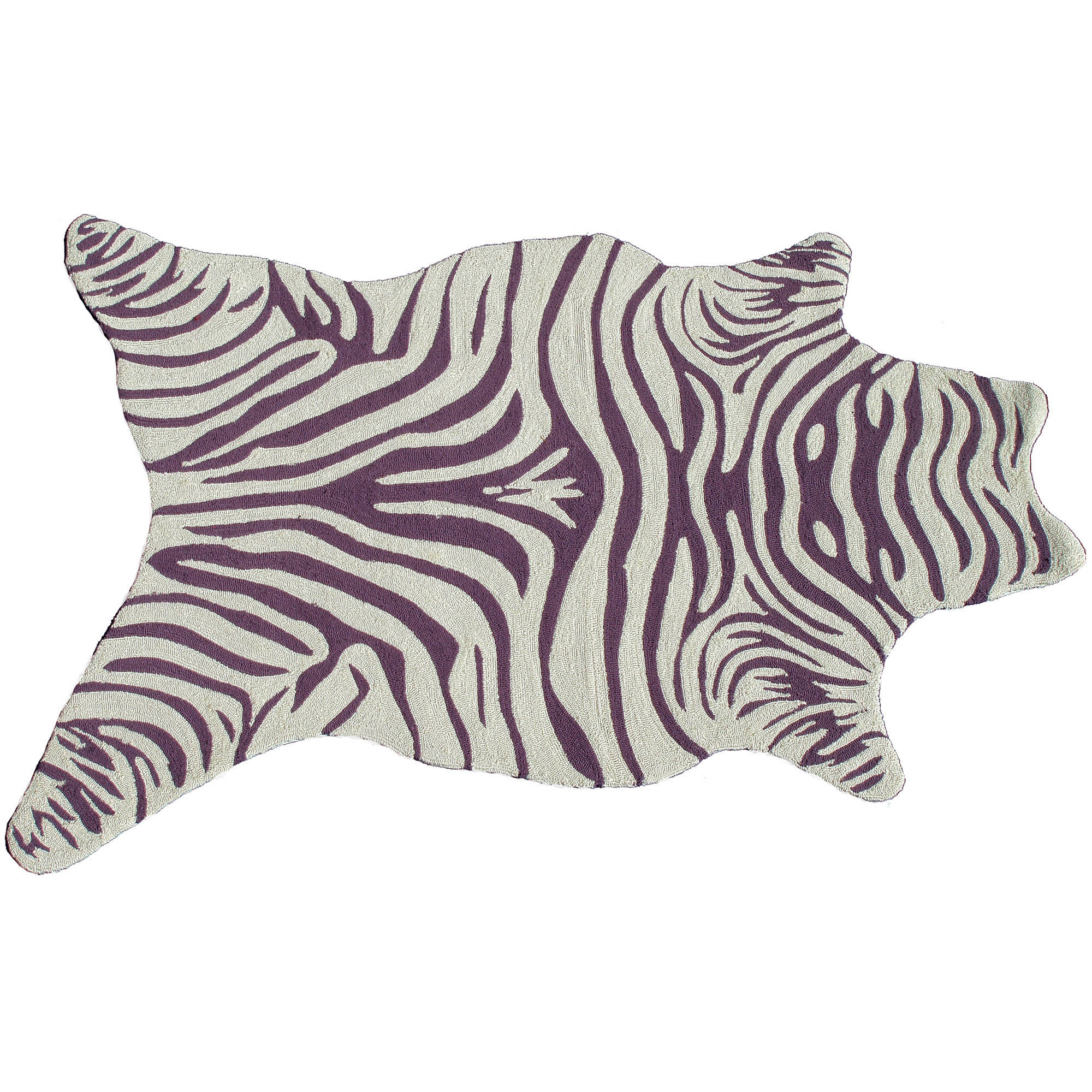 The Rug Market Zebra Vineyard Shaped Rug, 5' x 8'