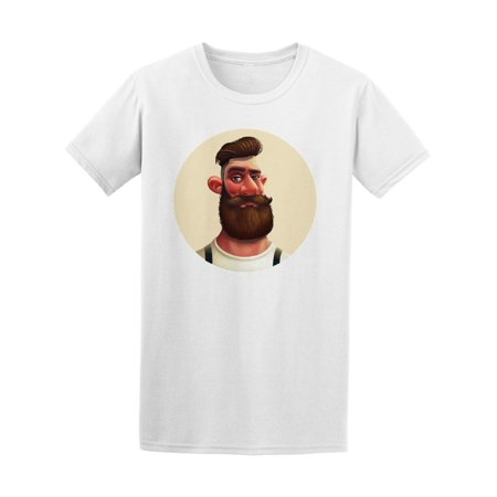 Character Bearded Hipster Tee Men's -Image by Shutterstock - Bearded Characters Halloween