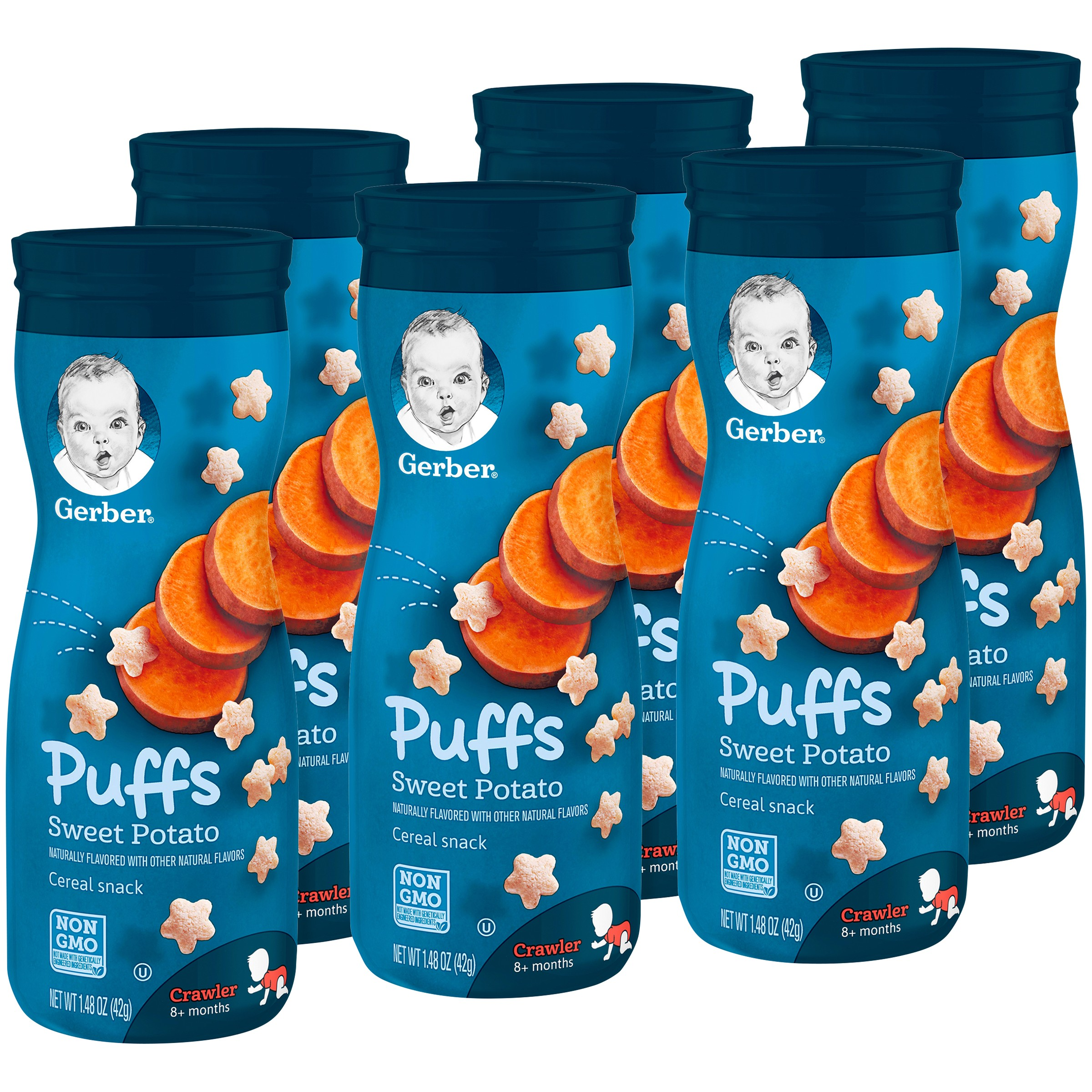 Gerber Graduates Puffs, Sweet Potato, 1.48 oz (Pack of 6)
