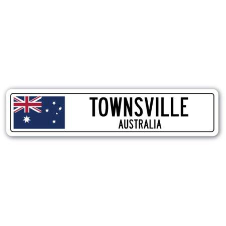 TOWNSVILLE, AUSTRALIA Street Sign Australian flag city country road wall gift - No Halloween Sign Australia