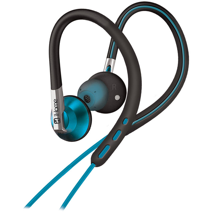 iHome Sport Ear Hook Earbuds with Microphone