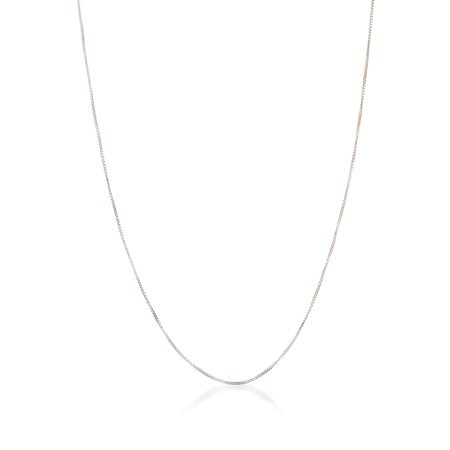 Bliss Box Chain Necklace in Sterling Silver