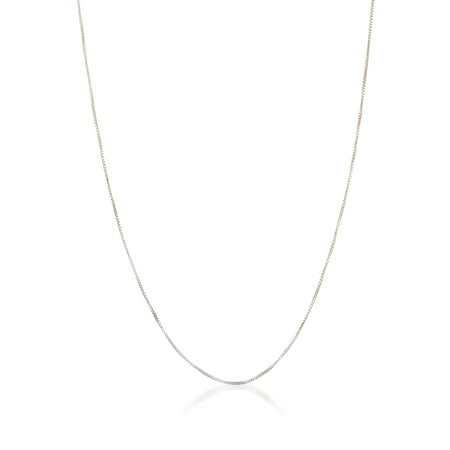 Bliss Box Chain Necklace in Sterling Silver - Heavy Box Chain Necklace