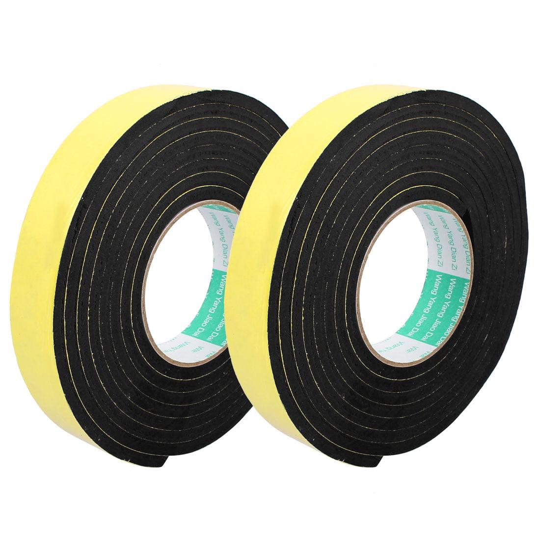 30mm Width Single Side Self Adhesive Shockproof Sponge Foam Tape 2M Length 2Pcs