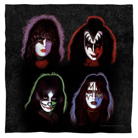 Kiss Hard Rock Metal Band Rock N' Roll Music Costumed Heads Bandana