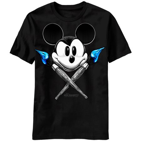 - Disney Epic Mickey Mouse Power of Two Both Brushes Adult T-shirt