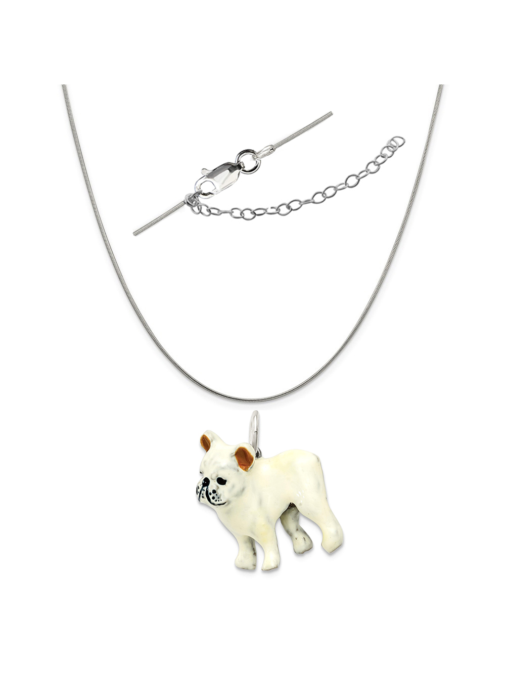 Sterling Silver I Love My Puppy Stud Earrings /& Matching Pendant w//18 Snake Chain