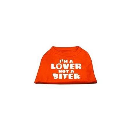 I m a Lover not a Biter Screen Printed Dog Shirt Orange XXXL 20
