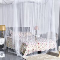 Product Image Zeny White Four Corner Post Bed Princess Canopy Mosquito Net Full Queen King