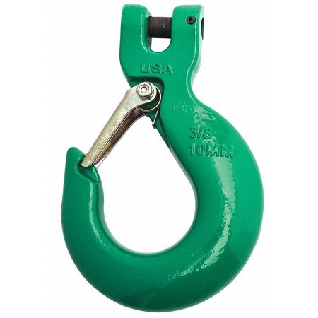 Sling Hook,3/8 in.,8800 lb.,Latch,Clevis CAMPBELL 5746695PL