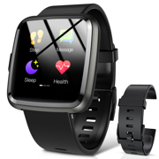 Hommie Smart Watch, Waterproof Sport Bluetooth Smartwatch Touch Screen with Message Reminder Heart Rate Monitor Sleep