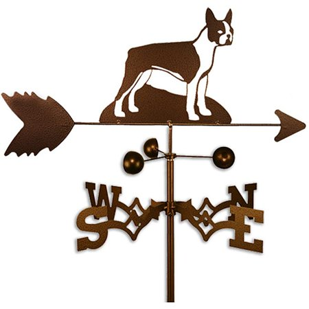 SWEN Products Inc Handmade Boston Terrier Dog Copper Weathervane