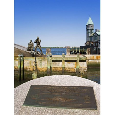 American Merchant Mariners Memorial in Battery Park, Lower Manhattan, New York City, New York, USA Print Wall Art By Richard
