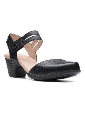 ee6e9f59b63 Product Image Women s Clarks Valarie Rally Closed Toe Sandal. Product  Variants Selector. Black Full Grain Leather