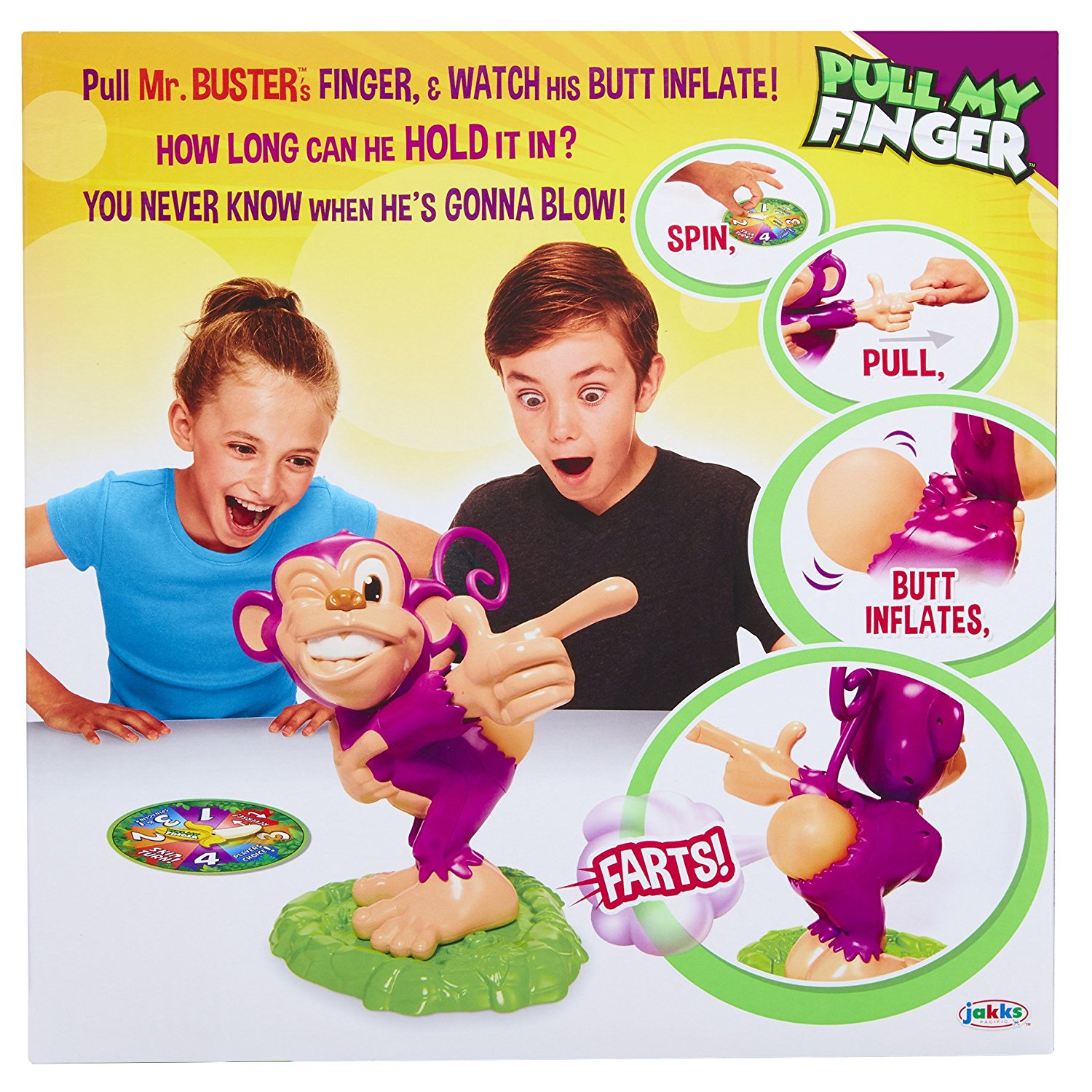 fa9c1a84 Pull My Finger: The Farting Monkey Game - Walmart.com