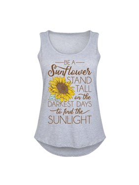 Be A Sunflower Stand Tall To Find The Sunlight - Women's Plus Size Tank Top