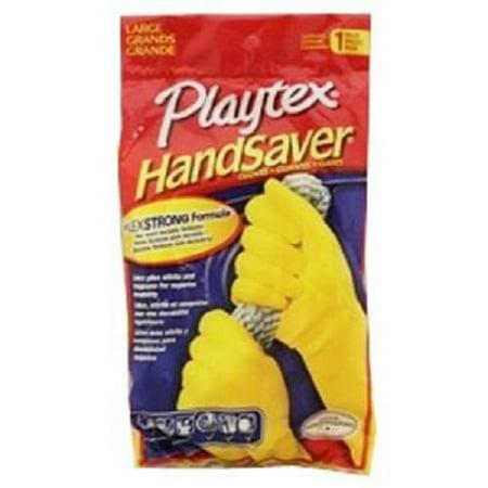 (Product Of Playtex, Handsaver All Purpose Latex Gloves - Large, Count 1 - Gloves / Grab Varieties & Flavors)