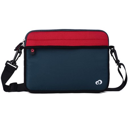 819ac59654 KroO 9-Inch Tablet Neoprene Messenger Bag Sleeve with Front and Rear  Pockets