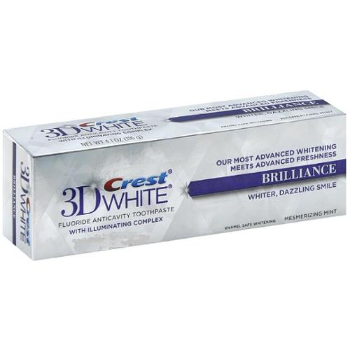 Crest 3D White Fluoride Anticavity Toothpaste 0.85 oz (Pack of 6)