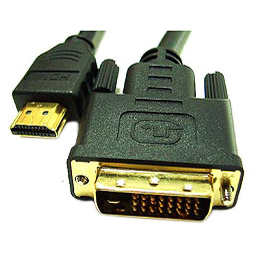 Link Depot Male Gold Plated DVI-D Dual Link to High Speed HDMI Cable 1/2/3/5 meters