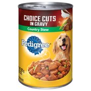 PEDIGREE CHOICE CUTS in Gravy Country Stew Canned Dog Food 22 Ounces