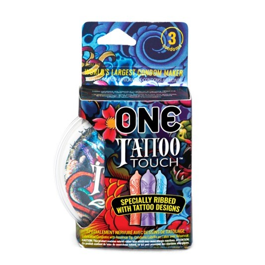 (4 Pack) ONE® Tattoo Touch Condom 3pk