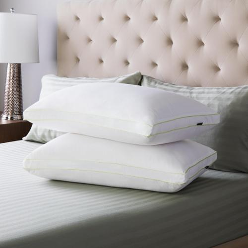 SwissLux Firm Density Gusseted Pillows (Set of 2) Queen