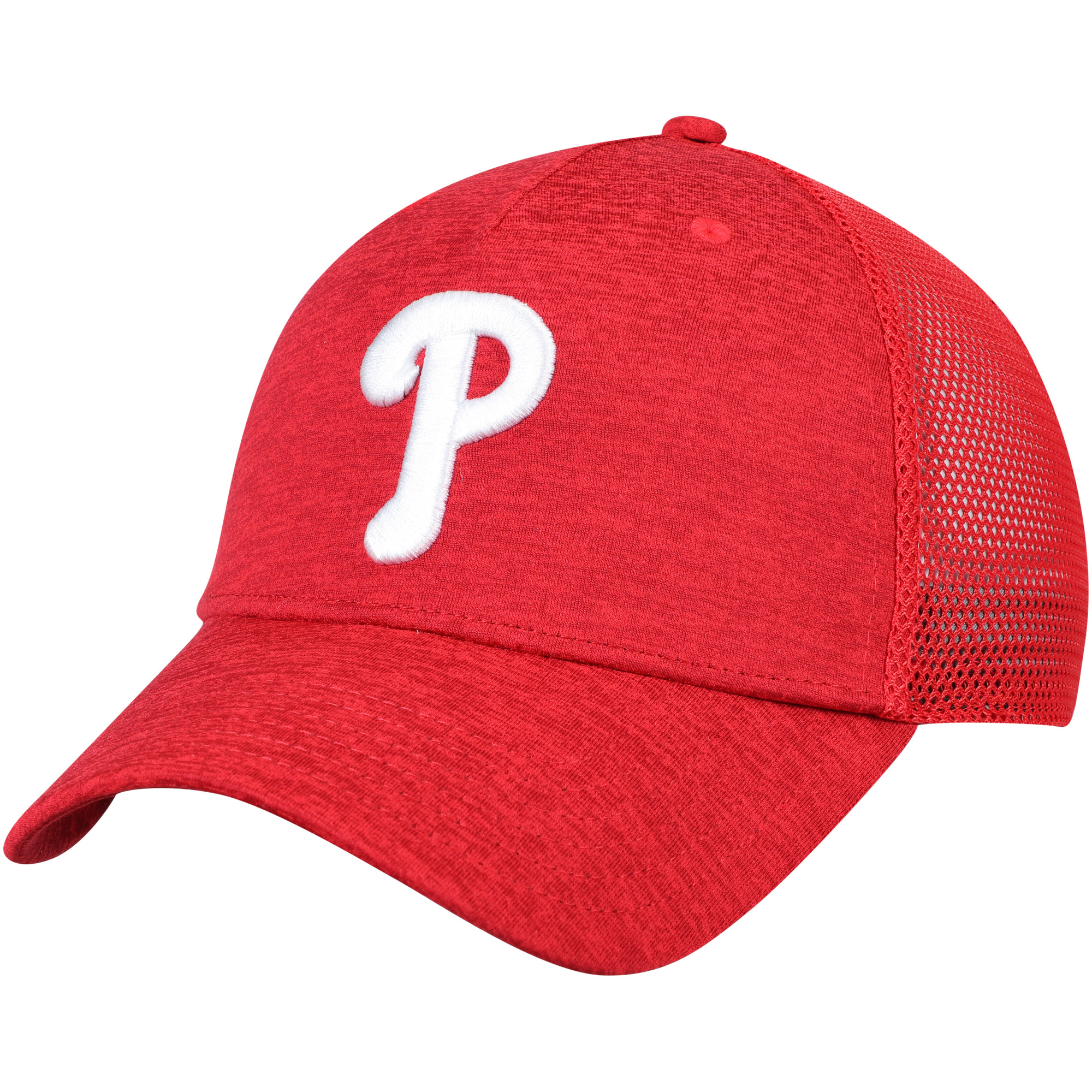Philadelphia Phillies Under Armour Twist Closer Trucker Performance Adjustable Hat - Red - OSFA