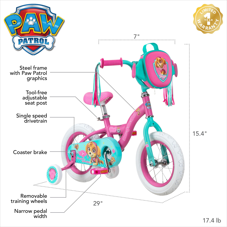 """White Nickelodeon/'s PAW Patrol 12/"""" Skye Bike"""