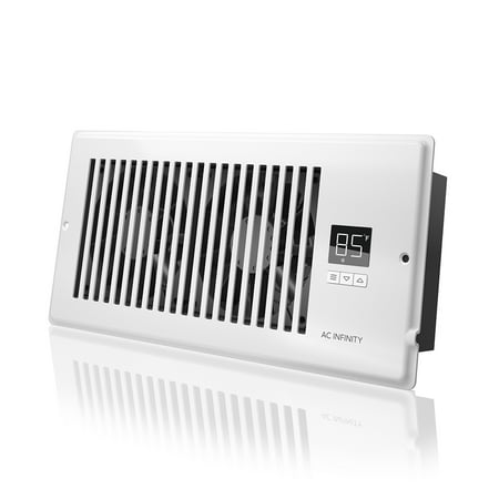 Apc Grill (AC Infinity AIRTAP T4, Quiet Register Booster Fan with Thermostat Control. Heating Cooling AC Vent. Fits 4