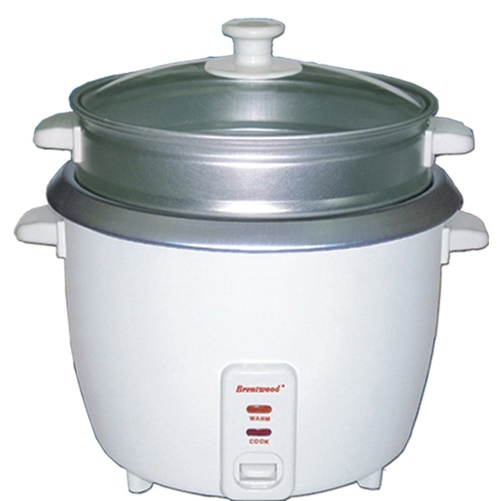 Brentwood TS-700S 4-Cup Rice Cooker with Steamer - White