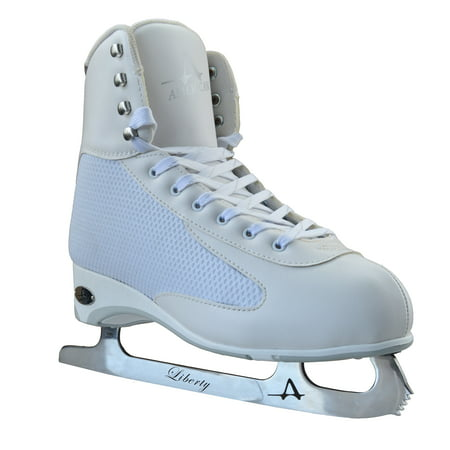 American Athletic White Ice Figure Skate