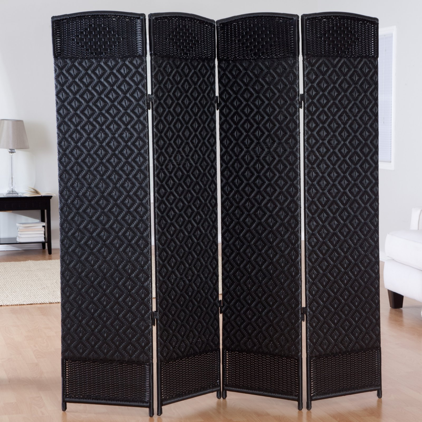 Outdoor/Indoor Woven Resin 4 Panel Room Divider
