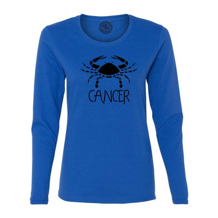 Cancer Zodiac Signs Birthday Womens  Long Sleeve