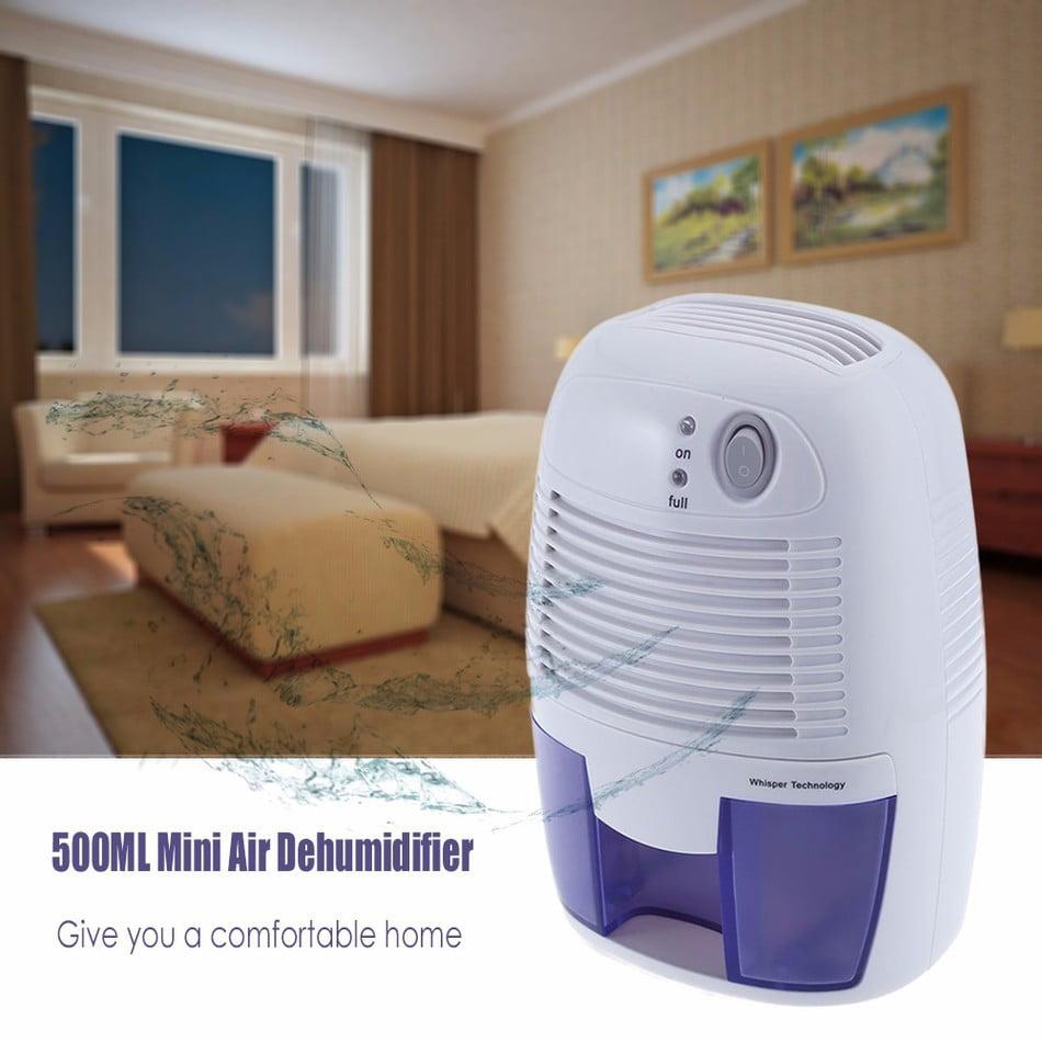 Mini Air Dehumidifier Moisture Absorber with 500ML Water ...
