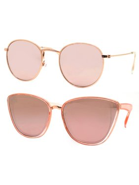 b476327de8 Product Image Time and Tru Women s Metal Sunglasses 2-Pack Bundle  Round  Sunglasses and Cat-