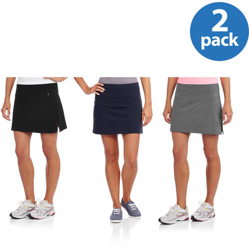 Danskin Now Women's Dri-More Core Skort, 2 Pack Value Bundle