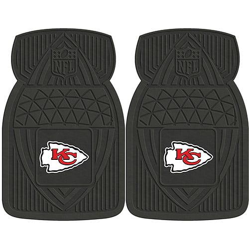 NFL 2-Piece Heavy-Duty Vinyl Car Mat Set, Kansas City Chiefs - SPORTS LICENSING SOLUTIONS