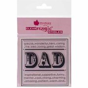 """Woodware Clear Stamps 3.5""""x3.5""""-Dad"""