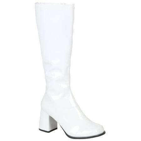 Girls White Gogo Boots - Gogo Girl Boots