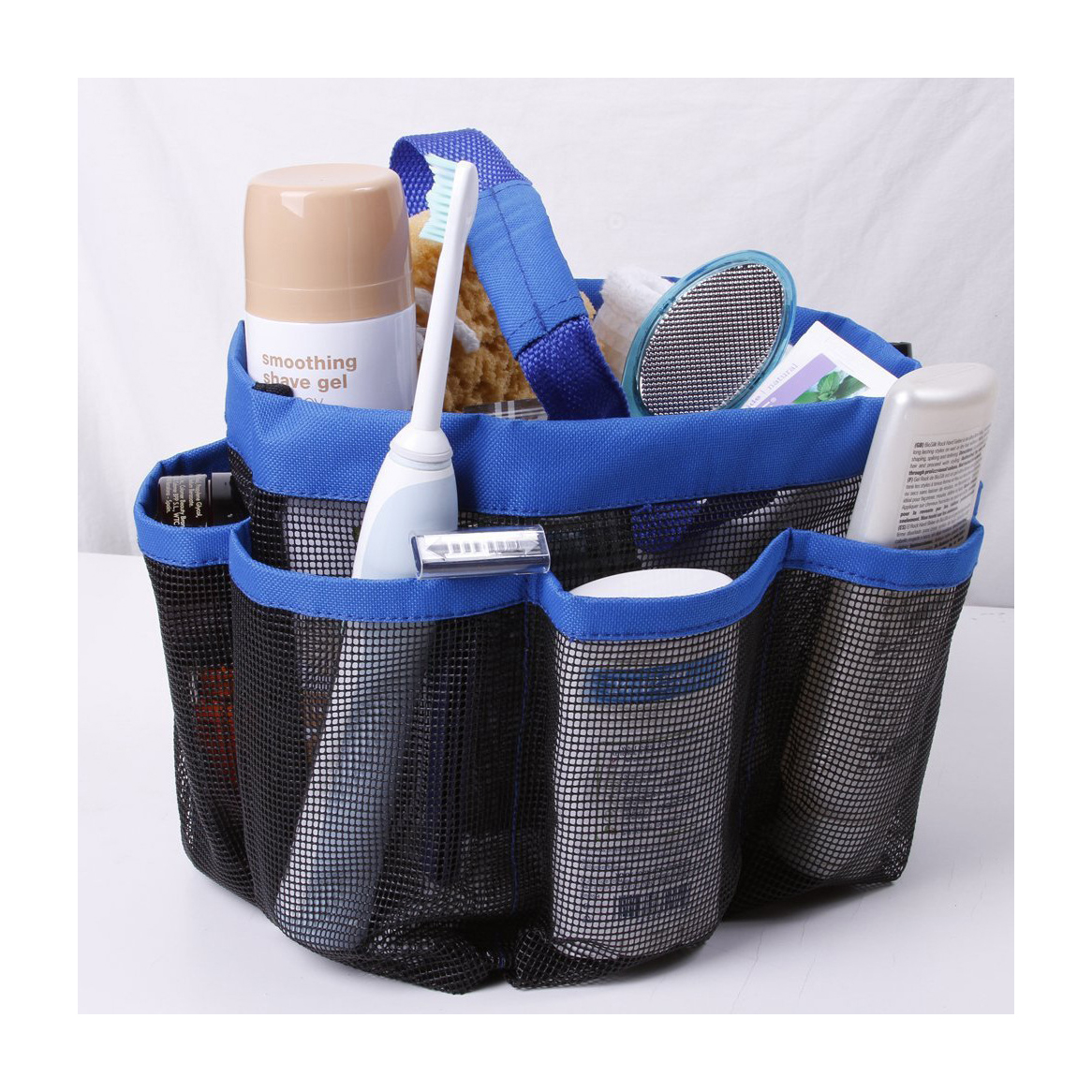 Mesh Shower Tote Wash Bag Bathroom Caddy With 8 Basket Pocket Package by