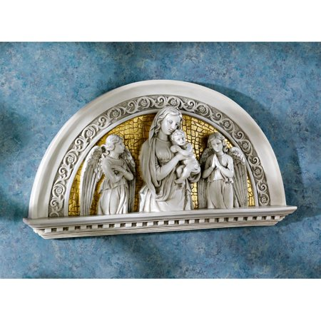 Child Sculpture - Design Toscano Blessed Virgin and Child Religious Arch Wall Sculpture