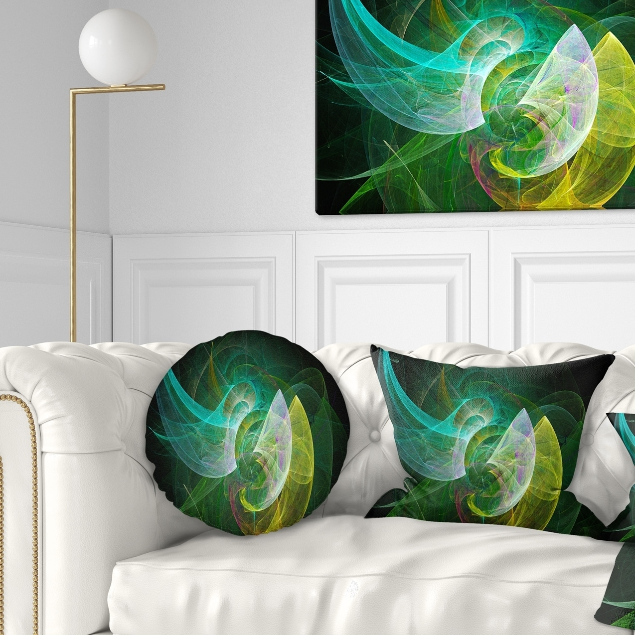 Green Mystic Psychedelic Texture Abstract Throw Pillow Walmart Com Walmart Com
